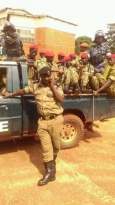 Military Police at the FDC party headquarters