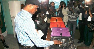 Breaking:Ruling Party Agent Caught Doctoring Electoral Results At The Tally Centre