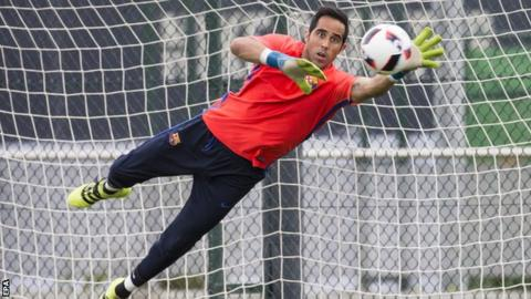 Barcelona Goalkeeper Claudio Bravo Is Set For A Medical At Manchester City