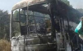 Breaking:Ugandan Driver Injured, Bus Burnt in South Sudan Ambush