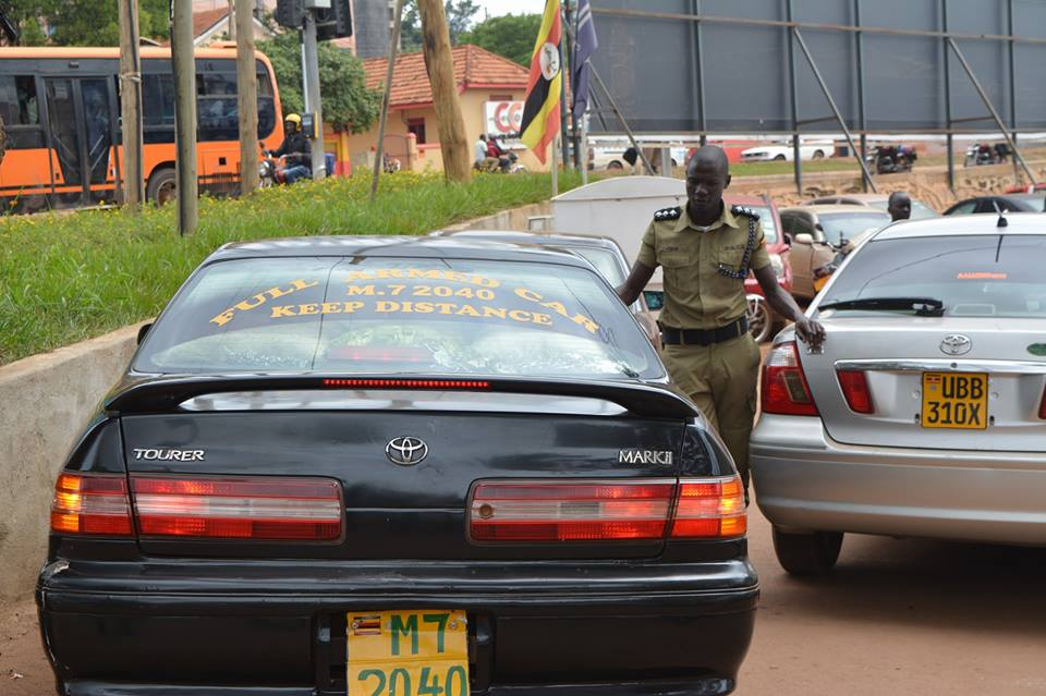 The car the suspect was using.  Source: Uganda Police